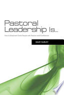 Pastoral Leadership Is
