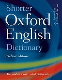 Shorter Oxford English Dictionary Deluxe Edition