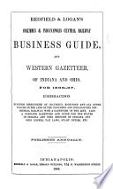 Redfield   Logan s Columbus   Indianapolis Central Railway Business Guide  and Western Gazetteer of Indiana and Ohio for