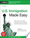 U S  Immigration Made Easy Book