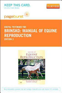 Manual of Equine Reproduction Pageburst Access Code