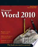 Word 2010 Bible