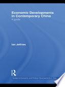 Economic Developments in Contemporary China Book