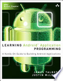 Learning Android Application Programming