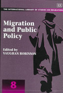 Migration and Public Policy Book