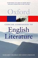 The Concise Oxford Companion To English Literature