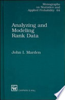 Analyzing And Modeling Rank Data Book PDF