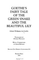 Goethe s Fairy Tale of the Green Snake and the Beautiful Lily