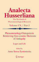 Phenomenology/Ontopoiesis Retrieving Geo-cosmic Horizons of Antiquity Pdf/ePub eBook