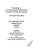11th European Conference on Innovation and Entrepreneurship