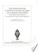 Die Englische Literatur des 19. und 20. Jahrhunderts mit einer Einführung in die Englische Frühromantik