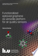 Functionalized epitaxial graphene as versatile platform for air quality sensors