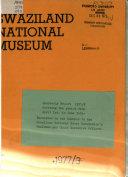 Quarterly Report - Swaziland National Museum