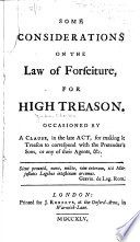 Some Considerations on the Law of Forfeiture Book