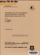 Proceedings of the Air Force Geophysics Laboratory Workshop on the Earth s Radiation Belts