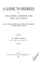 A Guide To Degrees In Arts Science Literature Law Music And Divinity