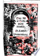 Das Allte Testament deütsch