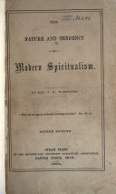 Pdf The Nature and Tendency of Modern Spiritualism