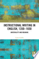 Instructional Writing In English 1350 1650