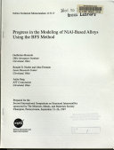 Progress in the Modeling of NiAl Based Alloys Using the BFS Method