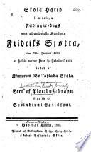 Brot af Placidus-drápu, útgefid af Sveinbirni Egilssyni
