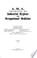 A.M.A. Archives of Industrial Hygiene and Occupational Medicine