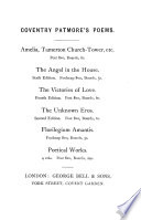 The angel in the house  by C K D  Patmore  In verse   by C  Patmore Book