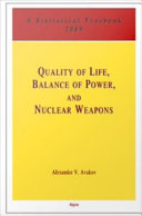 Quality of Life, Balance of Power and Nuclear Weapons (2009) Pdf/ePub eBook