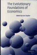 The Evolutionary Foundations of Economics