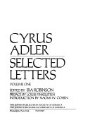Selected Letters  1883 1919