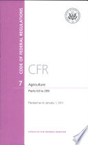 Code Of Federal Regulations Title 7 Agriculture Pt 53 209 Revised As Of January 1 2011