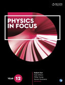 Cover of Physics in Focus Year 12 Student Book with 4 Access Codes