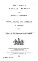 Pdf Annual Report ... of Births, Deaths, and Marriages in England and Wales