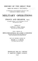 Military Operations  France and Belgium  1917 Book PDF