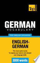 German Vocabulary For English Speakers 3000 Words Book PDF