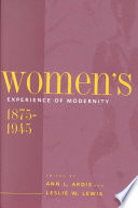 Women S Experience Of Modernity 1875 1945