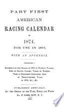 American Turf Register And Racing Calendar