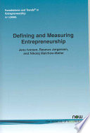 Defining and Measuring Entrepreneurship Book
