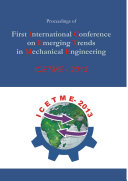 Proceedings of First International Conference on Emerging Trends in Mechanical Engineering