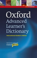 Oxford Advanced Learner's Dictionary, 8th Edition International Student's Edition with CD-ROM and Oxford iWriter (only available in certain markets)