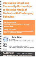 Developing School and Community Partnerships to Meet the Needs of Students with Challenging Behaviors