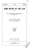 Some Myths Of The Law PDF