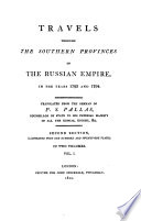 Travels Through the Southern Provinces of the Russian Empire, in the Years 1793 and 1794