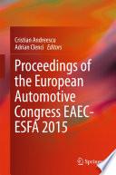 Proceedings of the European Automotive Congress EAEC-ESFA 2015