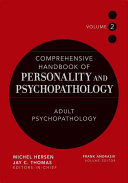 Comprehensive Handbook of Personality and Psychopathology   Adult Psychopathology Book