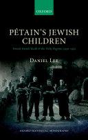 Pdf Pétain's Jewish Children Telecharger