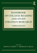 Handbook of College Reading and Study Strategy Research Book