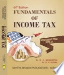 Fundamentals of Income Tax A Y 2020 21 Book