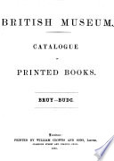 Catalogue of Printed Books Book