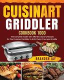 Cuisinart Griddler Cookbook 1000 Book PDF